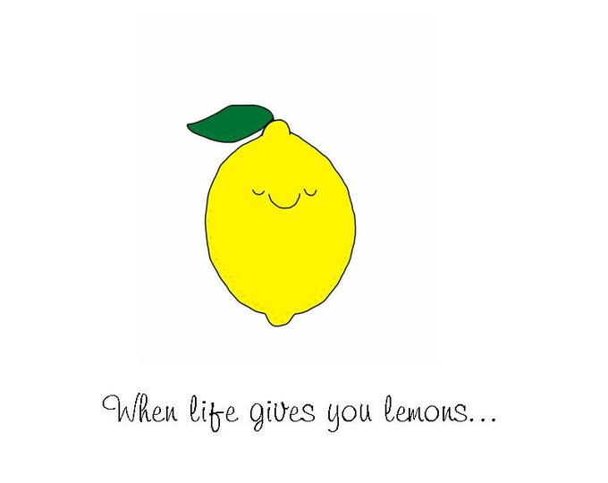 When Life Gives You Lemons, put them in your bra to make boobies funny snarky humorous card