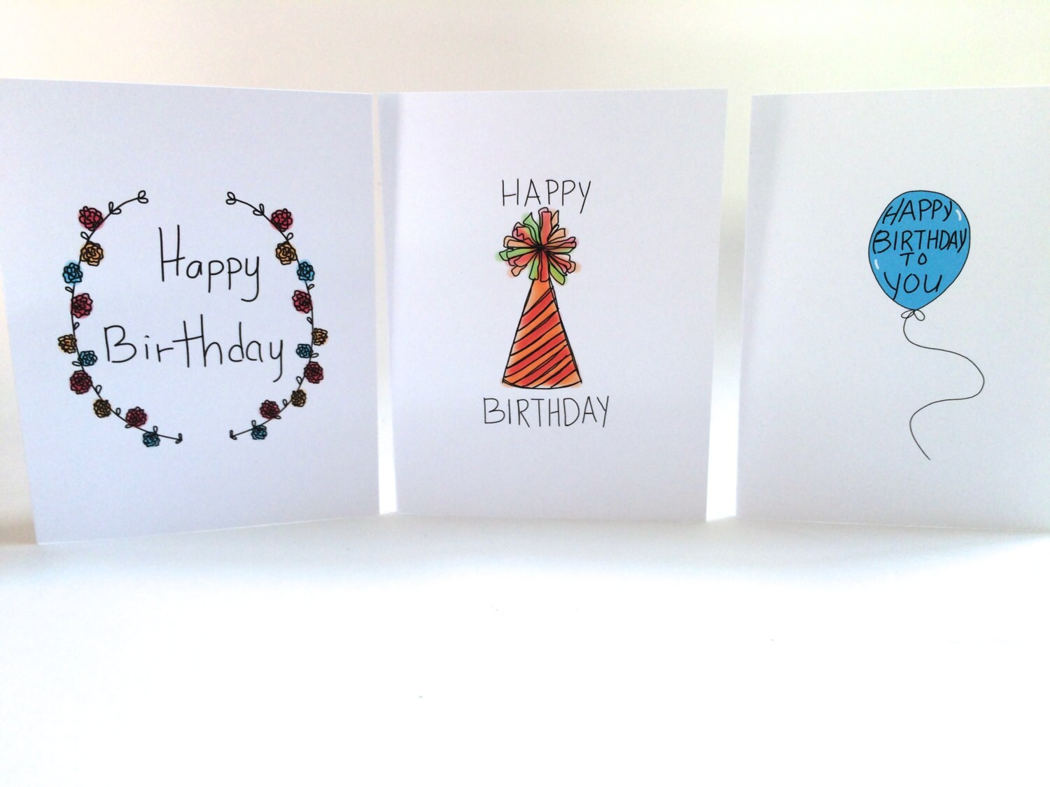 Birthday Card Set Pack Of Cards Three Doodle