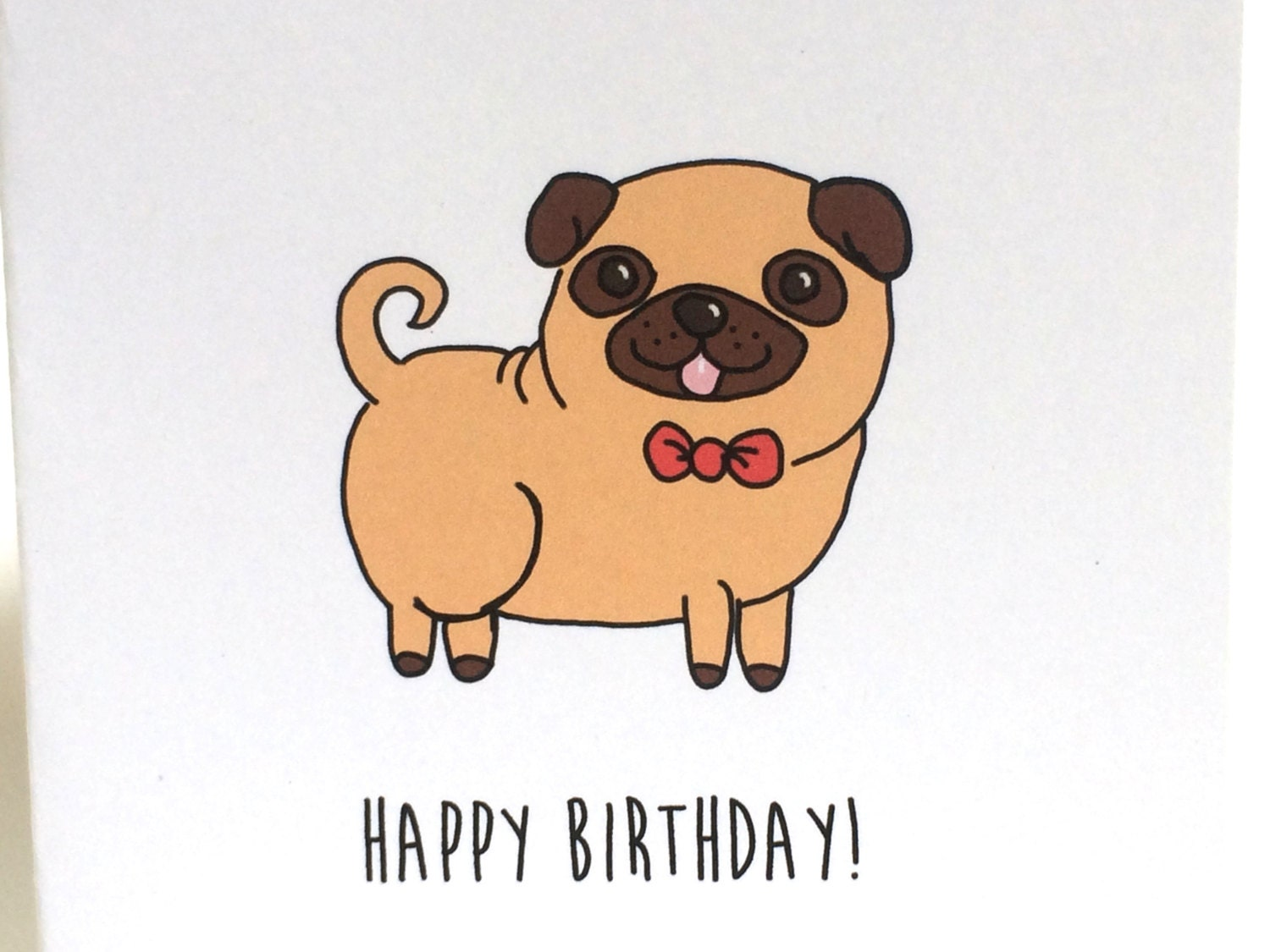 Pug Birthday Ecard Dogs Singing Happy