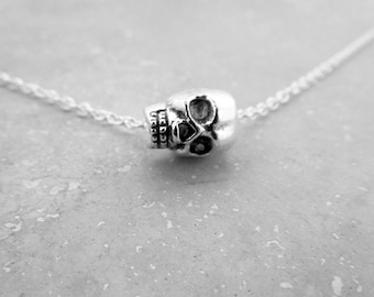 Skulls, Skull Necklace, Skull Charm Necklace, Day Of The Dead, Sugar Skull, Good Cause, Nickel Free Jewelry, Halloween Gifts