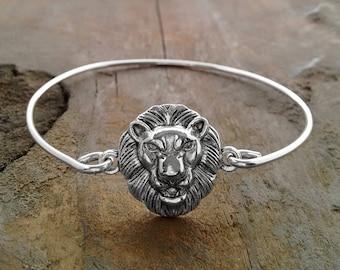 LION BRACELET, Gift For Lion Lover, Bangle Bracelets, Handmade Wire Bracelet, Custom Sized Bracelet, Shop For A Cause, Lions, Sexy Gifts