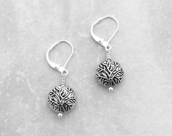 LEVERBACK EARRINGS - Sweet and delicate silver earrings, under 20 dollars, classic jewelry, shop for a cause, popular jewelry, gift wrapped