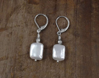 EVERYDAY PEARL EARRINGS, Silver Leverback Earwires, Stylish Jewelry, Animal Rescue, Gift Wrapped, Popular Styles, Pearls, Gift Wrapping