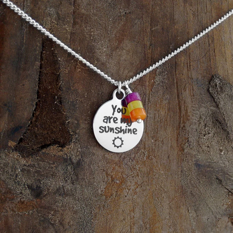Gift Under 50 Necklaces You are My Sunshine Inspirational image 0
