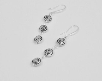 MODERN EARRINGS - Chic and Edgy Jewelry, Fashion For a Cause, Silver Swirl Earrings, Birthday Gift Women, Leverback Earrings, Animal Rescue