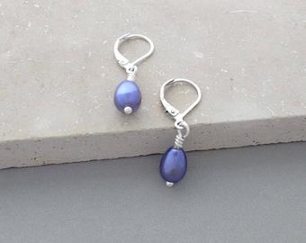 Purple Earrings, Pearl Earrings, Lightweight Earrings, Stylish Gifts, Under 20 Dollars, Animal Rescue, I Love My Dog Jewelry, Nickel Free