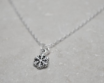 Frozen, Snowflakes, Tiny Snowflake Necklace, Gift For Girl, 925 Stamped Sterling Silver, Gift Idea, Frozen Necklace, ilovemydogjewelry