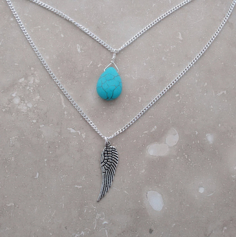 turquoise jewelry layering necklaces birthday gift classic image 0