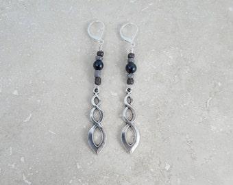 LONG EARRINGS, Boho Jewelry, stylish gift girl, sterling silver earrings, animal rescue, popular jewelry, nickel free, gift wrapped