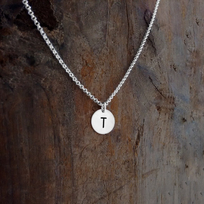 Stamped Jewelry Stamped Initial Custom Jewelry Hand image 0