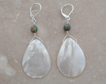 BIG EARRINGS, Big and Bold Earrings, statement accessories, mother of pearl jewelry, celebrity styles, one of a kind, gift under 20