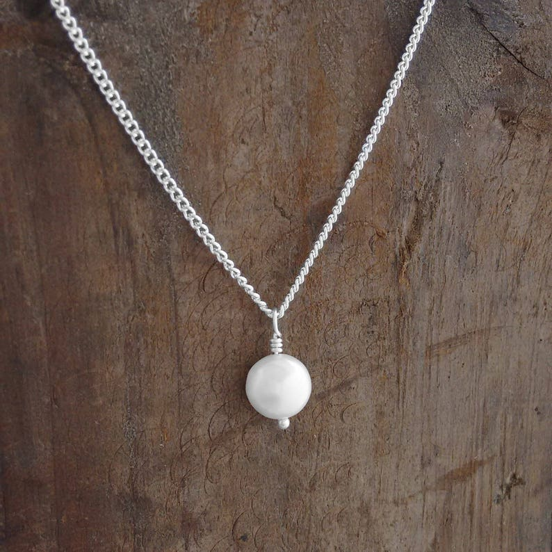 Pearl Necklace Pearls Nickel Free Jewelry Special Gift image 0