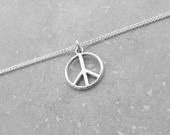 PEACE SIGN, Peace Necklace, Solidarity, Peace pendant, Peace lover, Peace gift, gift for friend, harmony, love, gift wrapped gifts