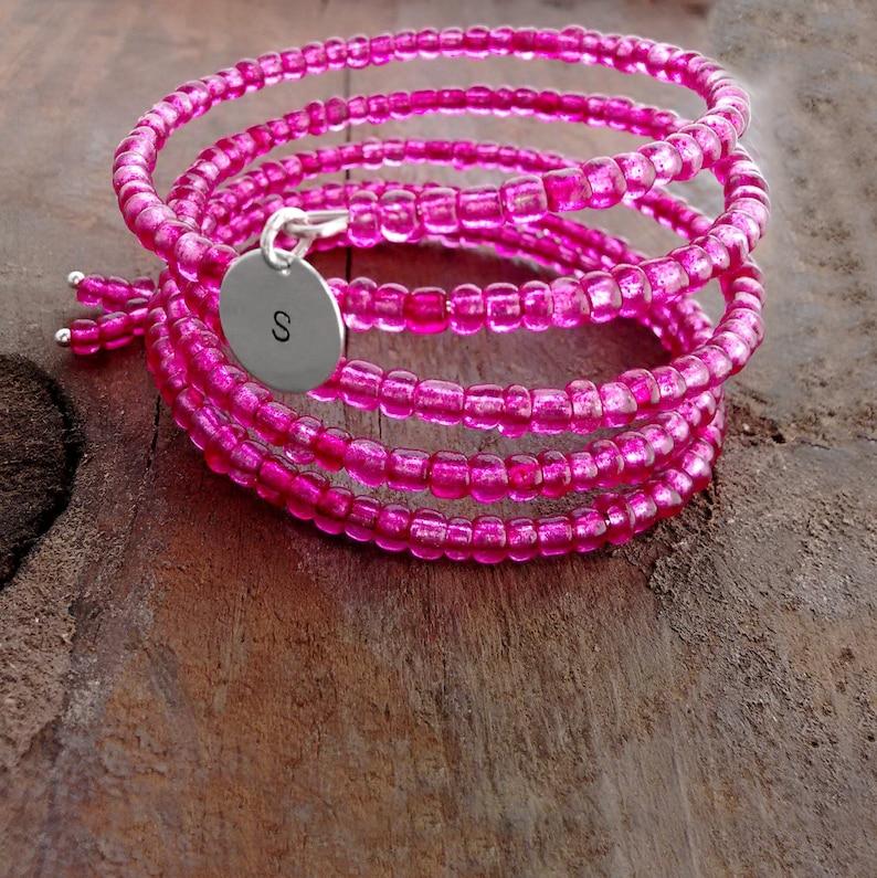Pink Bracelet Pink Jewelry Custom Bracelet One Size Fits image 0