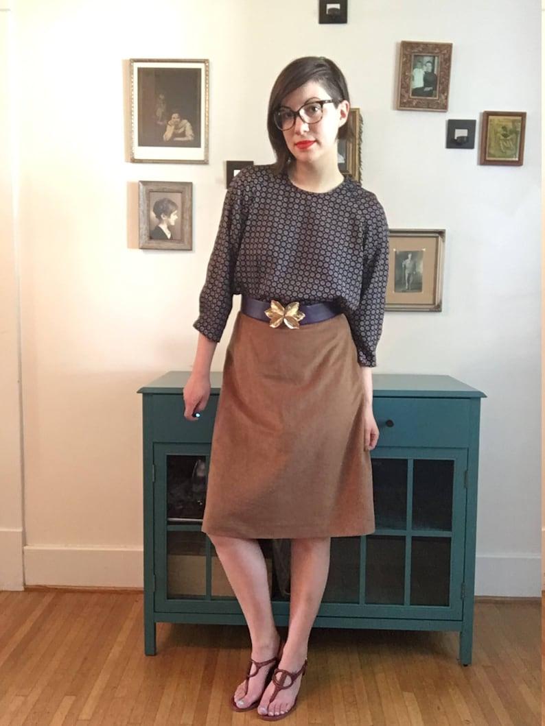 Vintage Faux Suede Skirt