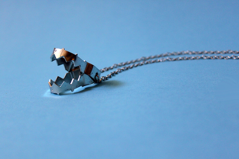 Silver Colored Bear-trap Necklace image 0