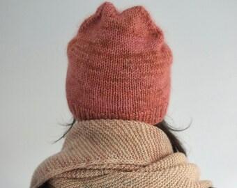 Simple hat knitting pattern recipe, PDF Pattern, Easy knit hat,  Jéjé hat pattern, Beginner hat pattern, Knit Beanie pattern