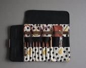 Case for interchangeable knitting needles, Best of case with cheetahs, Black needle case