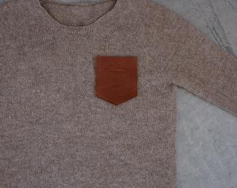 Leather Pocket, La Rouge Leather pocket, sew on leather pocket