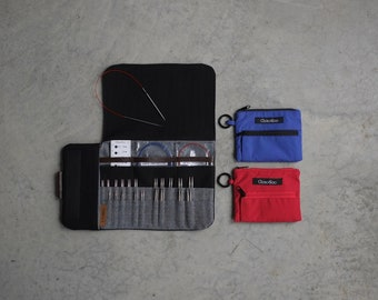 Shorties Case, Black and gray case for shorties needle, case for interchangeable needles