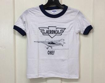 Aeronca Champ Gray Embroidered T-shirt