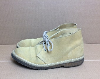 1970s Eddie Bauer suede leather chukka boots men's size 7.5 tan ankle boots