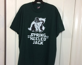 1990s Spring Heeled Jack band t-shirt size XL 23x27 made in USA 90s skate punk ska darth vader mask galaxy tour grunge