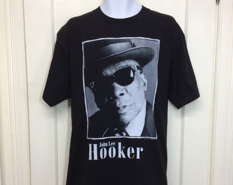 1990s 1995 John Lee Hooker King of the Boogie t-shirt size XL 23x30 blues legend rock band tee all cotton