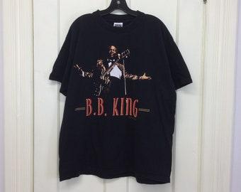 1990s BB King 1999 Tour t-shirt size XL 23x28 blues legend rock band concert tee all cotton