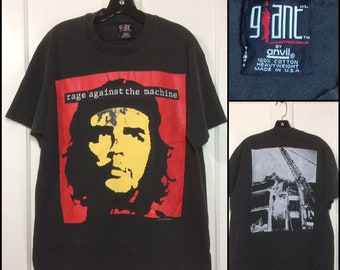 1990s Rage Against the Machine 1993 Bombtrack t-shirt size XL 22x28 faded black rock band grunge Che Guevara single stitch made in USA