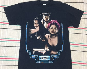 1990s TLC 1999 Fan Mail tour t-shirt size medium 19x28 all cotton Left Eye Lisa Lopes hip hop legend