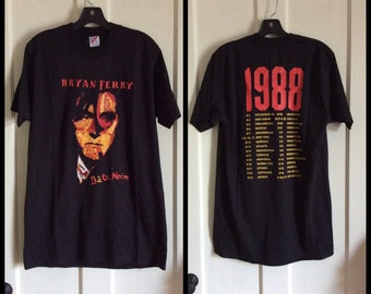 Vintage Bryan Ferry 1988 Bete Noire Concert Tour Rock Band T-shirt size Large