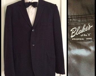 1960s Black Dinner Suit Jacket looks size Medium 2 button