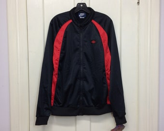 deadstock 1980s 1985 Air Jordan 1 wings basketball warm up jogging jacket size large made in Japan black red AJ-1 blue tag Nike NOS NWT