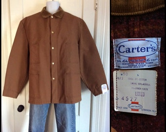 Deadstock Carters Blanket Lined Duck Work Chore Jacket Coat Mens size 50 XXL NWT