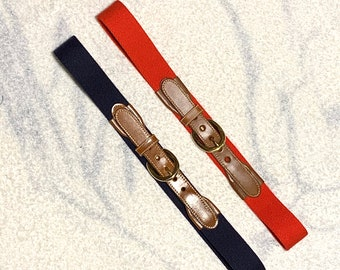 New Brooks Brothers Navy /& Red Braided Cotton Belt L Large Trad Ivy