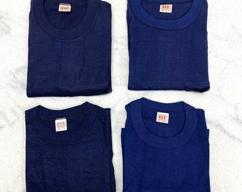 Pick One- deadstock 1950s 1960s BVD pocket tee plain blank t-shirt size medium large thin cotton single stitch made in USA square pocket NOS