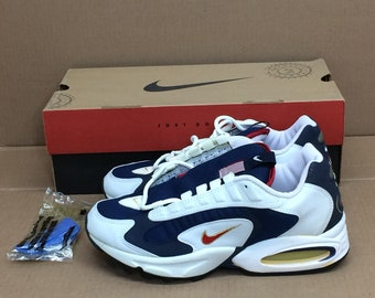 outlet store sale 3e1f1 8fab0 deadstock Nike Air Max Triax 96 USA Olympics running shoes size 8 red white  blue gold swoosh trainers kicks sneakers 1990s NIB new in box