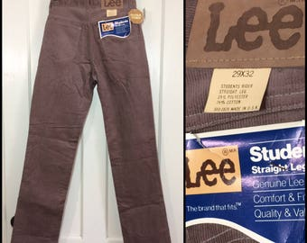 1980s deadstock Lee Student Rider 560 corduroys 29x32 taupe tan straight leg corduroy jeans NOS NWT #1602