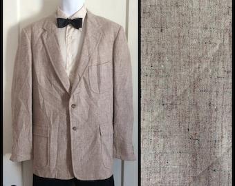 1950s Atomic Speckled Fleck Wool Suit Jacket Coat blazer looks size Large