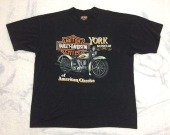 1980s Harley Davidson Factory York Pennsylvania souvenir t-shirt size XL 22x26 all cotton single stitch
