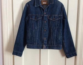 1980s Levi's Denim Blue Jean Jacket 4 Pocket boy's Size 20 or mens XS #1849