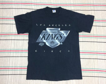 1990s Los Angeles Kings NHL hockey sports team t-shirt size large 20x28 black cotton single stitch Starter made in USA