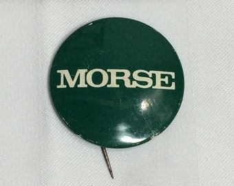 1950s American politician Wayne Morse pin pinback button  badge 1.5 inch USA politics political democrat independent