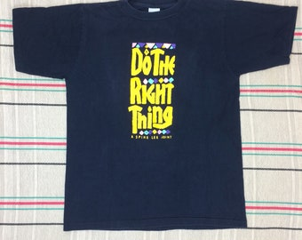 1980s Spike Lee Joint Do the Right Thing- Fight the Power movie promo t-shirt size large Gravity Graphics cotton made in USA single stitch