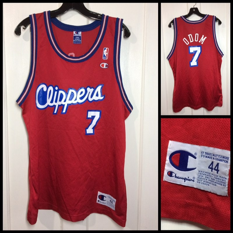 a2bbcf22019 1990s Los Angeles Clippers Lamar Odom number 7 NBA basketball ...