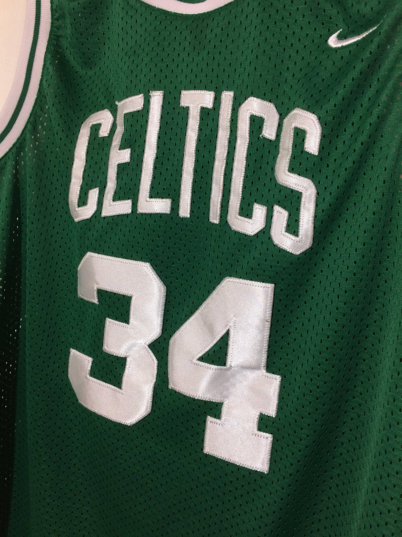 92871d3a8bac 1990 s Boston Celtics Paul Pierce  34 sewn basketball team Nike NBA ...