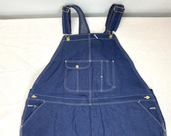 1990s deadstock blue denim Wear Guard overalls tag size 54x32 measures 52x31 4XL made in USA nwt nos