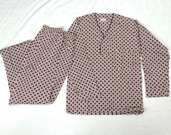 1960s deadstock pajamas set size A pullover top patterned by Pleetway