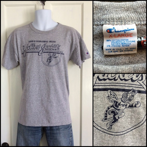1980s AIC Champion Brand Cotton Rayon Heather Gray